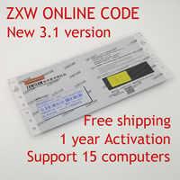 En ligne ZXW équipe 3.1 logiciel Code d'autorisation numérique Zillion x diagramme de circuit de travail pour iPhone iPad Samsung utilisation 1 an