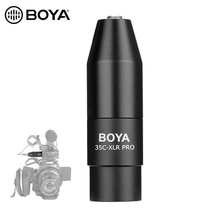 BOYA 35C XLR 3.5mm (TRS) Mini Jack Female Microphone Adapter to 3 pin XLR Male Connector for Sony Camcorders Recorders & Mixers