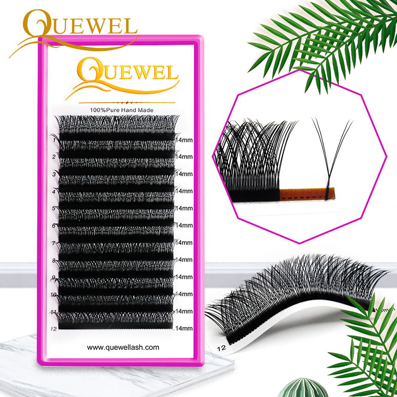 Y Shape Eyelashes Extensions Double Tip Lash Eyelash Cilios Y Natural Easily Grafting Y Style Volume Eye Lashes Faux Mink Quewel