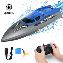 EACHINE EB02 RC Boat Remote Control Ship 2.4G 4CH High Speed Motor Up To 30+ KPH For Pool And Lake 40 Mins Usage Time Boat Toys