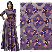 Wax-Print Fabric Dress-Material Tissus 6yards Nederlands Pagne African for DIY Veritable