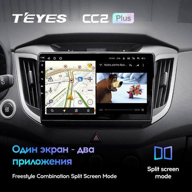 TEYES CC2L и CC2 Plus Штатная магнитола For Хендай Крета GS For Hyundai Creta IX25 2015 - 2019 Android до 8-ЯДЕР до 6 + 128ГБ 16*2EQ + DSP 2DIN автомагнитола 2 DIN DVD GPS мультимедиа автомобиля головное устройство 3