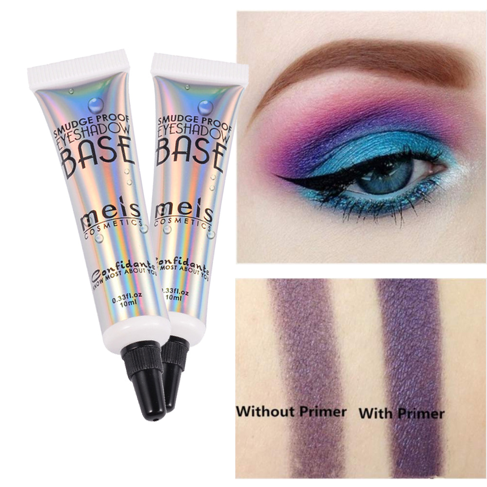 MEIS Waterproof Eyeshadow Primer Cream Enhancers Shadow Color Smooth Long Lasting Eye Shadow Base Protecting Eyes Makeup 10ml