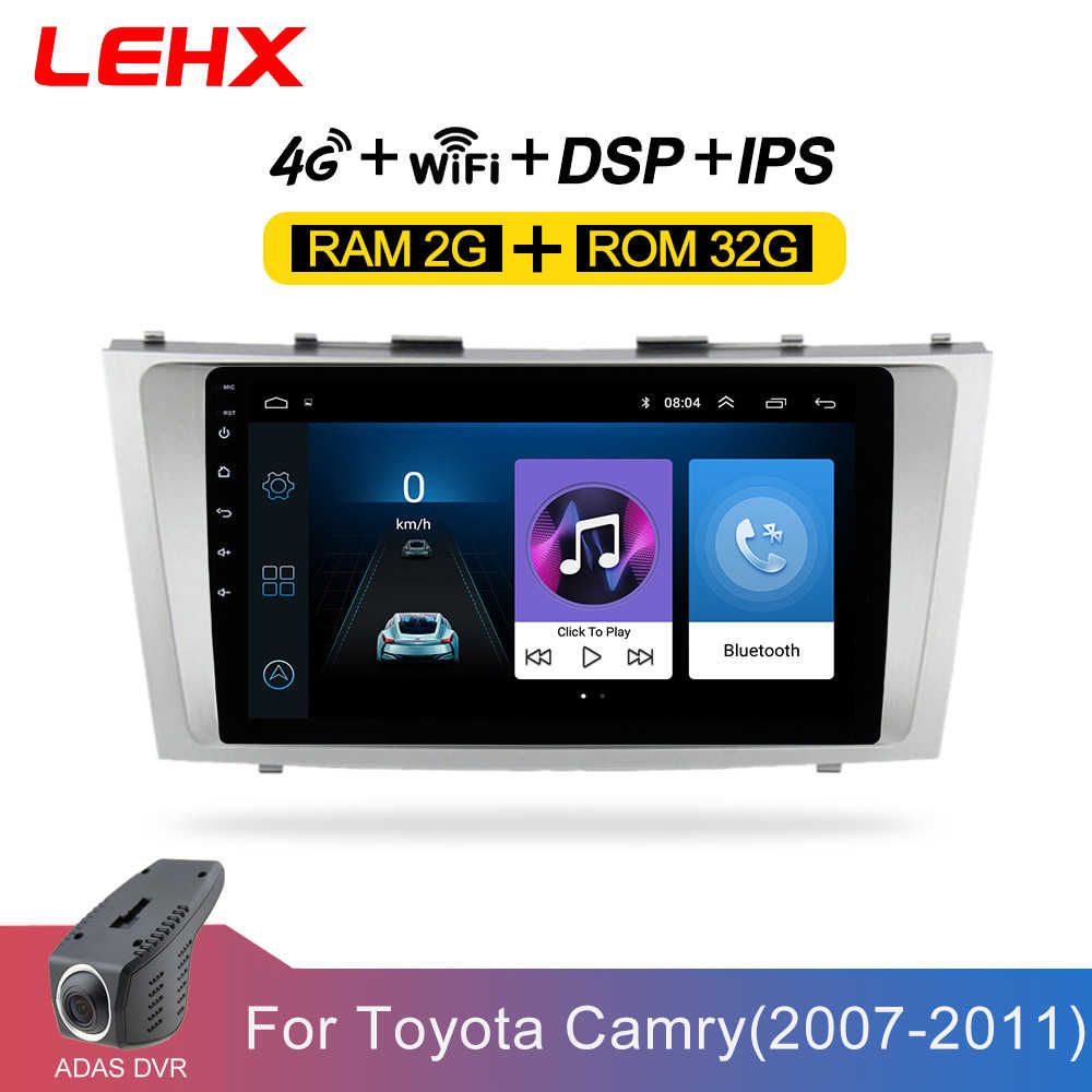 Lehx Android 8.1 Car Multimedia Player 2 DIN Mobil Radio untuk Toyota Camry 2007 2008 2009-2011with Navigasi Mobil Stereo Kepala unit