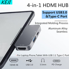 Hub USB C Với 4K HDMI PD Sạc Loại C HUB USB 3.1 Plitter Cho MacBook Pro Dell XPS 13 15 Lenove Thinkpad Yoga Máy Nintendo Switch(China)