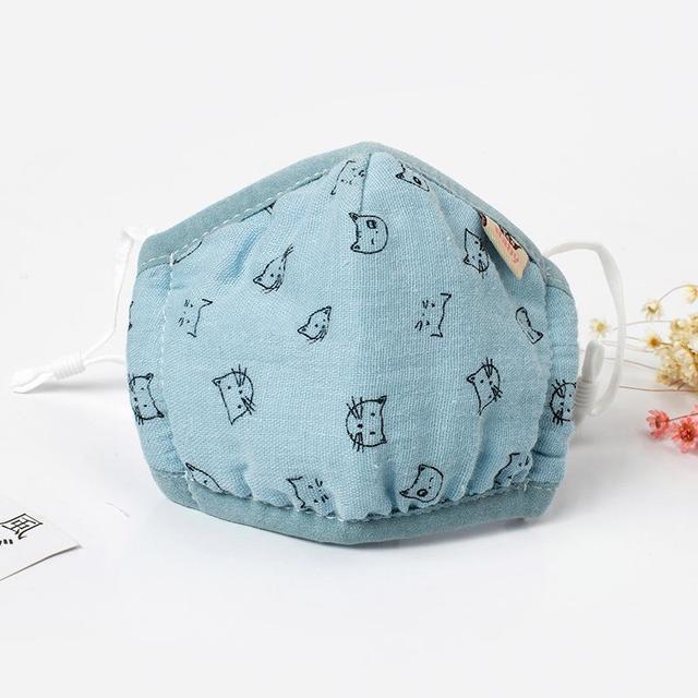 1PCS 0-3 years Washable Cotton Baby Dust Mask Anti Dust Flu Mouth Face Mask Unisex Maska Mouth-muffle Mask Reusable Mascarillas 2