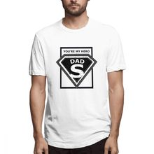 Blue T shirt You're My Super Hero DAD Father's Day Out Men's Short Sleeve T-shirt Overside Tee shirt 100 Cotton print tshirt рубашка insight vector rain shirt oldy black out blue