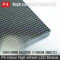 P4 комнатный SMD полноцветный светодиодный видеомодуль 256*128 мм Rgb панель 64x32 пикселей
