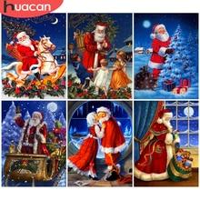 HUACAN 5D Diamond Painting Santa Claus Craft Kit Art Rhinestone Diamond Embroidery Cartoon Mosaic Winter Christmas Decoration