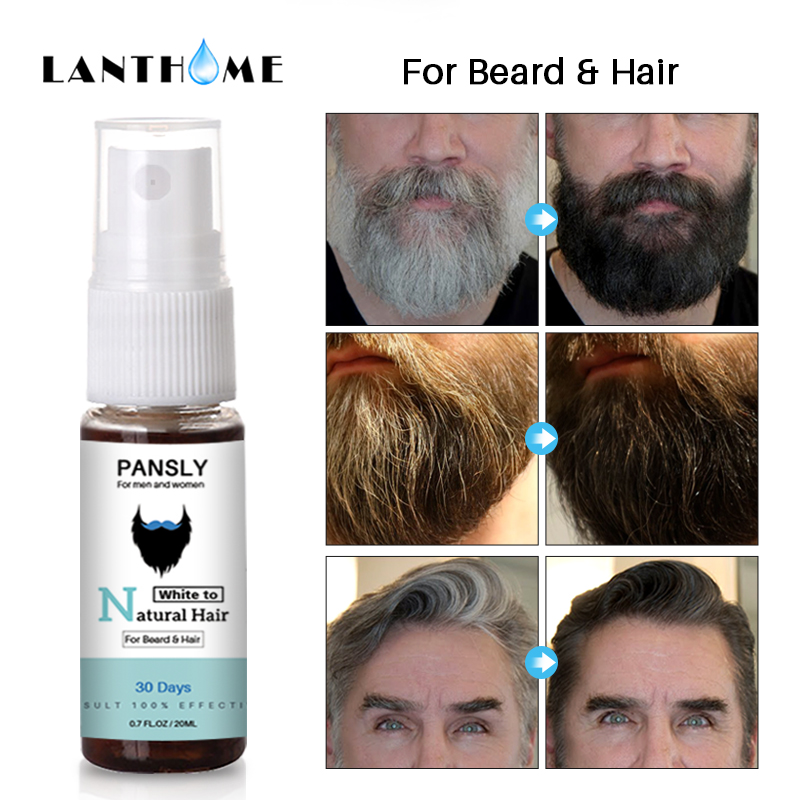 3pc Magical Herbal Cure White Hair Treatment Spray 20ML Remedies Change White Gray Hair To Black Permanently In 30 Days Natural 3