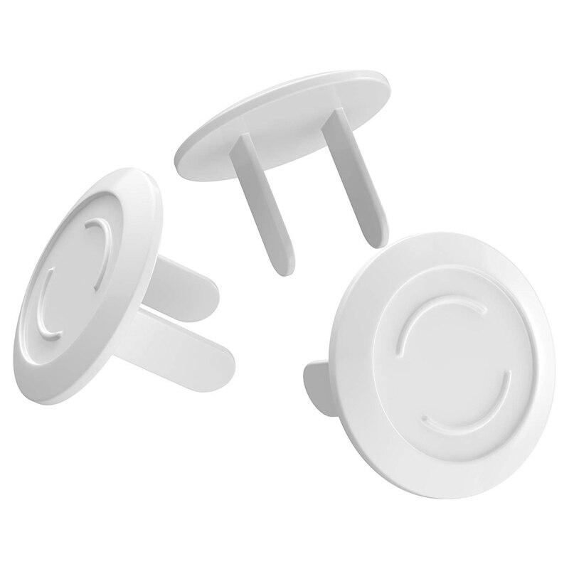 Protective Children'S Power Socket 2 Hole Protective Cover Baby Power Plug Protection Cover 40 Pieces White