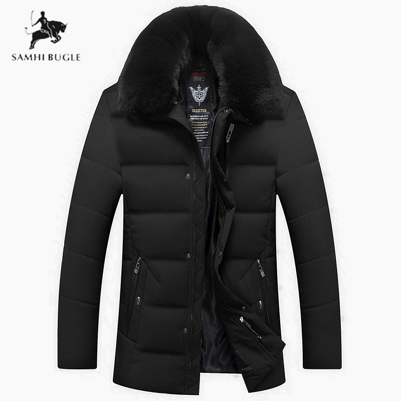 2019 New Winter Jacket Men Big Real Fur Collar Hooded Duck Down Jacket Thick Down Jacket Men Warm Coat 2XL 3XL 4XL