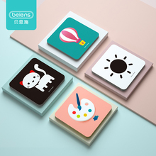 Beiens Baby Montessori Spielzeug Tasche Flashcards für 0 36 Monate Neugeborenen Lernen karte Spielzeug Kinder Frühe Pädagogische Erkennen Karte