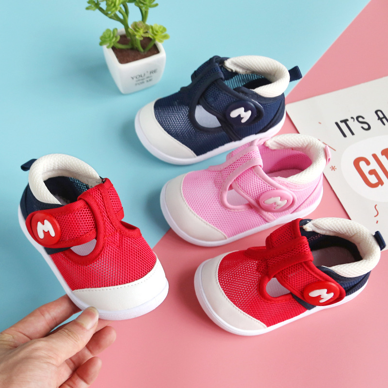 2020 Summer Infant Sandals Girls Boys Toddler Shoes Soft Bottom Comfortable Outdoor Anti-collision Children Baby Mesh Sandals