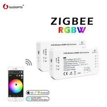 GLEDOPTO Zigbee Zll inteligentny dom DC12V-24V RGBW przyciemnianie światła pasek kontroler kompatybilny z ECHO Plus Smartthings Hub Led Strip
