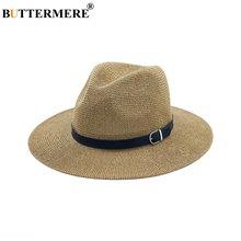 Пляжная соломенная шляпа buttermere коричневая женская мужская