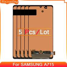 5pcs 100% Tested Amoled LCD For Samsung Galaxy A71 A715 A715F A715FD Repair Parts Display Touch Screen Digitizer Assembly