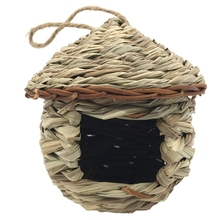 Nest Bird Hut Resting-Place Finch Grass for PROVIDES-SHELTER Hand-Woven Houses Perfect