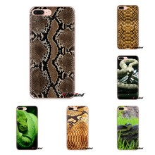 Transparent Soft Cases Covers Snakeskin Snake Pattern For Samsung Galaxy S3 S4 S5 Mini S6 S7 Edge S8 S9 S10 Plus Note 3 4 5 8 9(China)