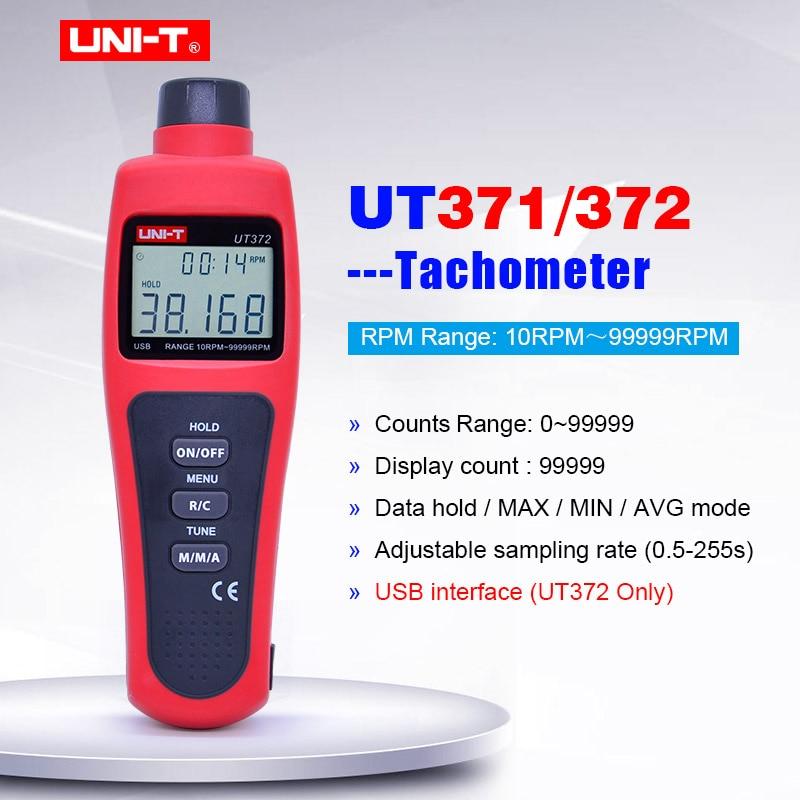 Tachymètre Laser numérique sans contact de UNI-T UT371 UT372 odomètre de maintien des données/mode MAX/MIN/AVG; plage de tr/MIN 10 ~ 99999 tr/MIN interface USB