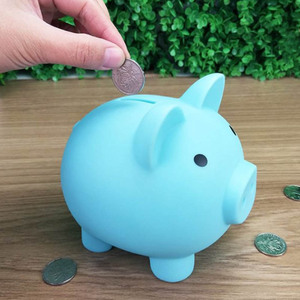 Birthday Gift Small Piggy Bank Money Boxes Coins Storage Box Children Toys Cartoon Pig Shaped Money Saving box 1Pcs S M size(China)