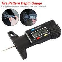 Medidor de profundidade digital caliper medidor de profundidade do passo lcd pneu medidor de passo para o pneu de carro 0-25mm ferramenta de medição ferramentas de reparo de pinça