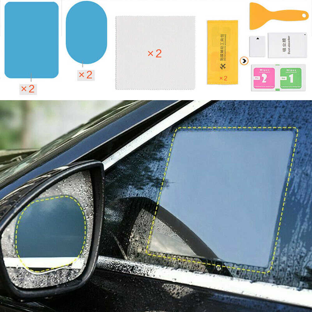 Set Anti-fog Film Accessories Universal Car 4Pcs Rear view Rain Shield Useful