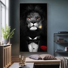 Quadros de parede com impressão de animais, quadros modernos de parede para sala de estar e decoração caseira