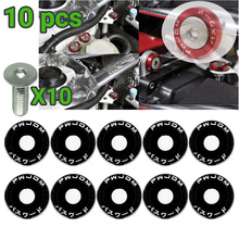 Fender Washer Bumper-Engine Screws M6 Jdm 10pcs Car-Modified-Hex-Fasteners Concave Car-Styling
