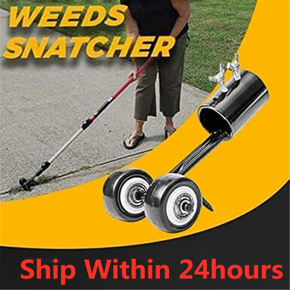 In-stock Home Garden Weeder With Wheel Weed Puller Tool Long Handle Weed Remover Gardening Weeding Tool Welcome Dropshipping