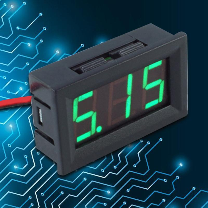0 56inch LED Display DC 4 5 30V Two wire Digital Voltmeter Multifunctional Practical Amp Volt Voltage Current Meter Tester in Voltage Meters from Tools