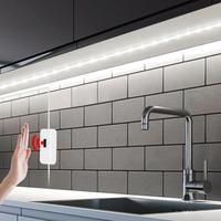 Interruptor inteligente de barrido de mano con puerto USB de 5V, luces LED para armario, Sensor de movimiento de mano, tira LED para cocina, dormitorio, armario, decoración, lámpara de noche