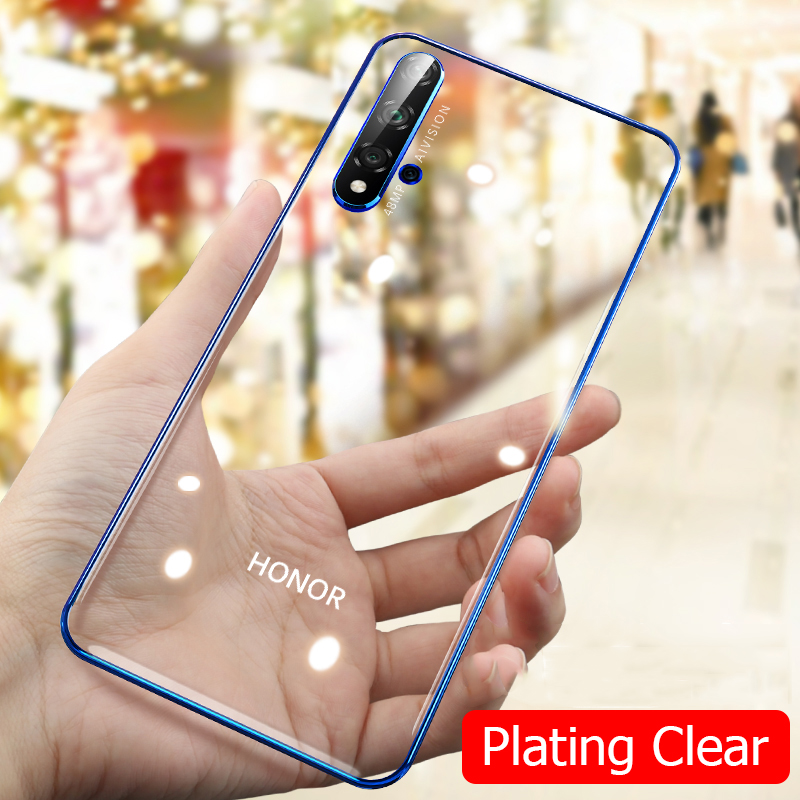 For Huawei Honor 20 Pro Case 3D Laser Plating Luxury TPU Soft Clear Cover For Huawei Honor 20 Lite Bright Crystal Phone Cases