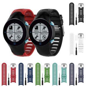 Image 2 - سيليكون استبدال شريط للرسغ حزام (استيك) ساعة للغارمين سلف 610 ووتش مع أدوات الأسود