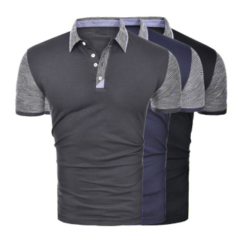 цена ZOGAA 2020 New Men Slim Polo Shirt Business Casual Solid Male Short Sleeve Breathable Patchwork Mature Size M-2XL Polo Shirt Men онлайн в 2017 году