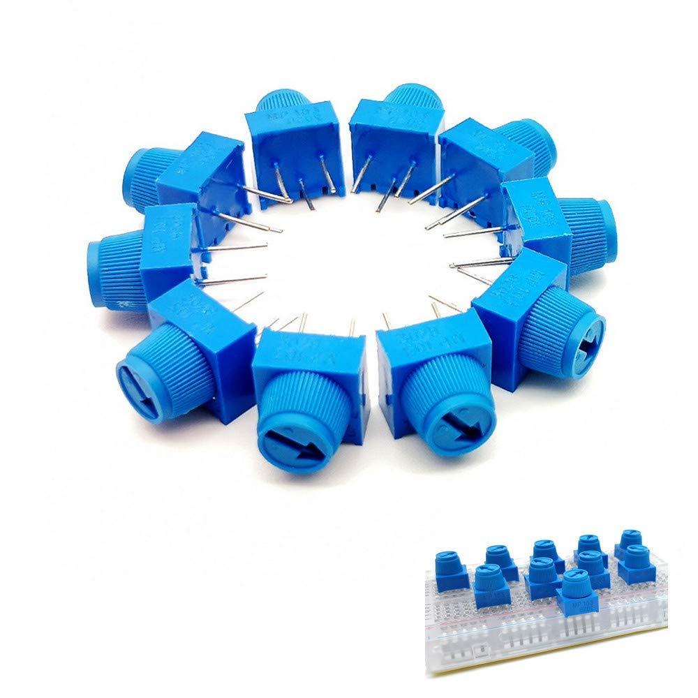10 шт. макетная плата Trimpot 10K с ручкой для обрезки Potentionmeter 1K 10K 50K 100K для Arduino