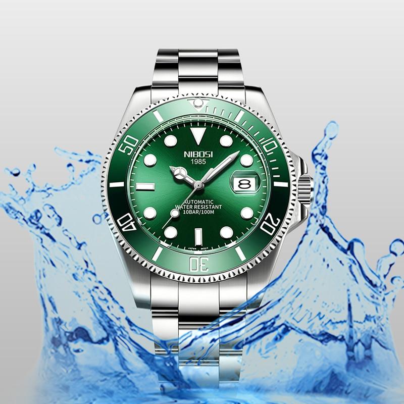 NIBOSI Mechanical Watch Men 10Bar Automatic Luxury Men Watch Sport Wristwatch Two-Tone Reloj Hombre Tourbillon Relogio Masculino 4