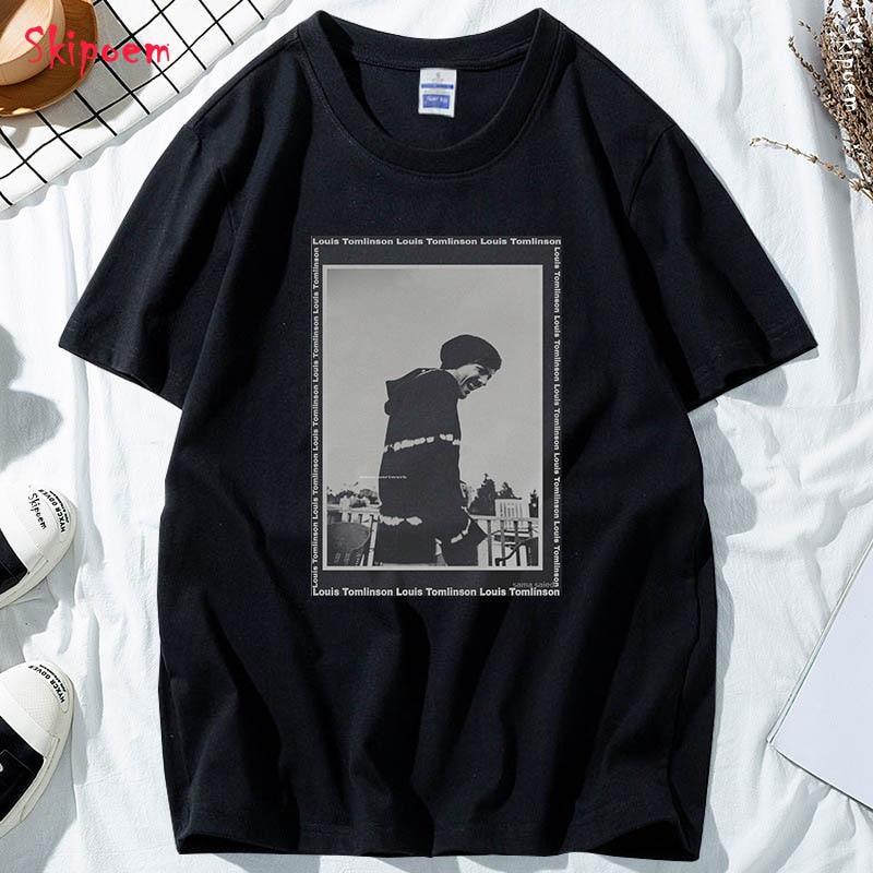 Louis Tomlinson T shirt Men Funny Hip Hop Casual Harajuku Fashion Vintage New Skipoem Cotton Short Sleeve Streetwear Clothes|T-Shirts| - AliExpress