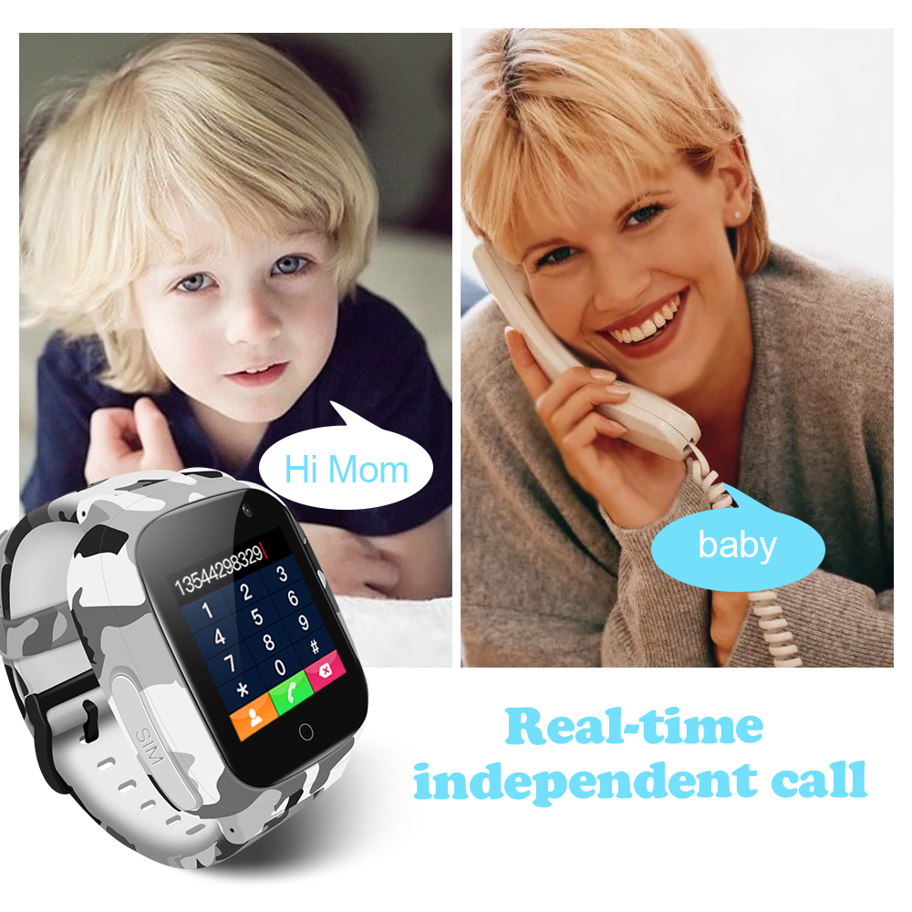Image 5 - LEMFO LEC2 Smart Watch Kids GPS 600Mah Battery Baby Smartwatch IP67 Waterproof SOS For Children Support Take Video-in Smart Watches from Consumer Electronics
