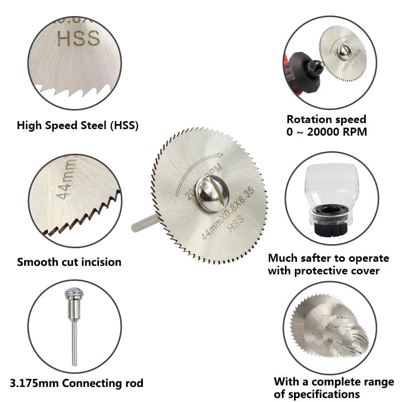 XCAN 3.175mm Utensili rotanti HSS Lame per seghe circolari Dischi da - Lama per sega - Fotografia 4