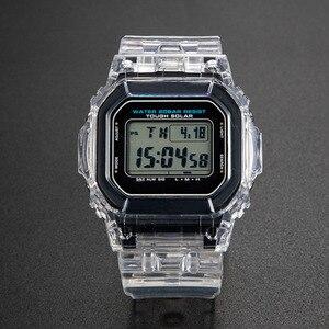 Image 1 - 투명 시계 세트 금속 걸쇠와 DW5600 GW M5610 시계 밴드 베젤 팔찌