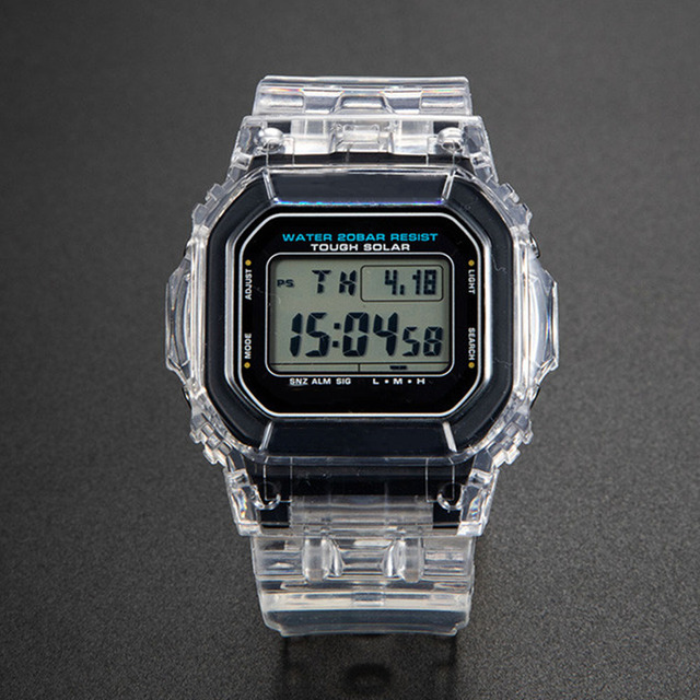 투명 시계 세트 금속 걸쇠와 DW5600 GW M5610 시계 밴드 베젤 팔찌