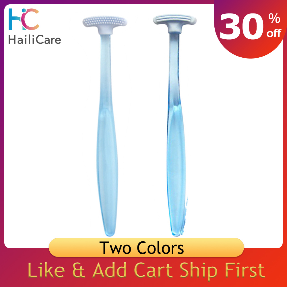 Double Sided Tongue Scraper Fresh Breath Cleaning Coated Tongue Toothbrush Oral Hygiene Care Dental Tools