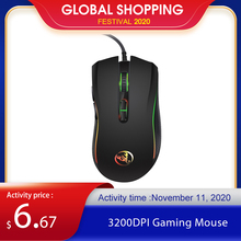 HXSJ A869 3200DPI 7 Buttons 7 colors LED Optical USB Wired Mouse Gamer Mice computer mause mouse Gaming Mouse For Pro Gamer