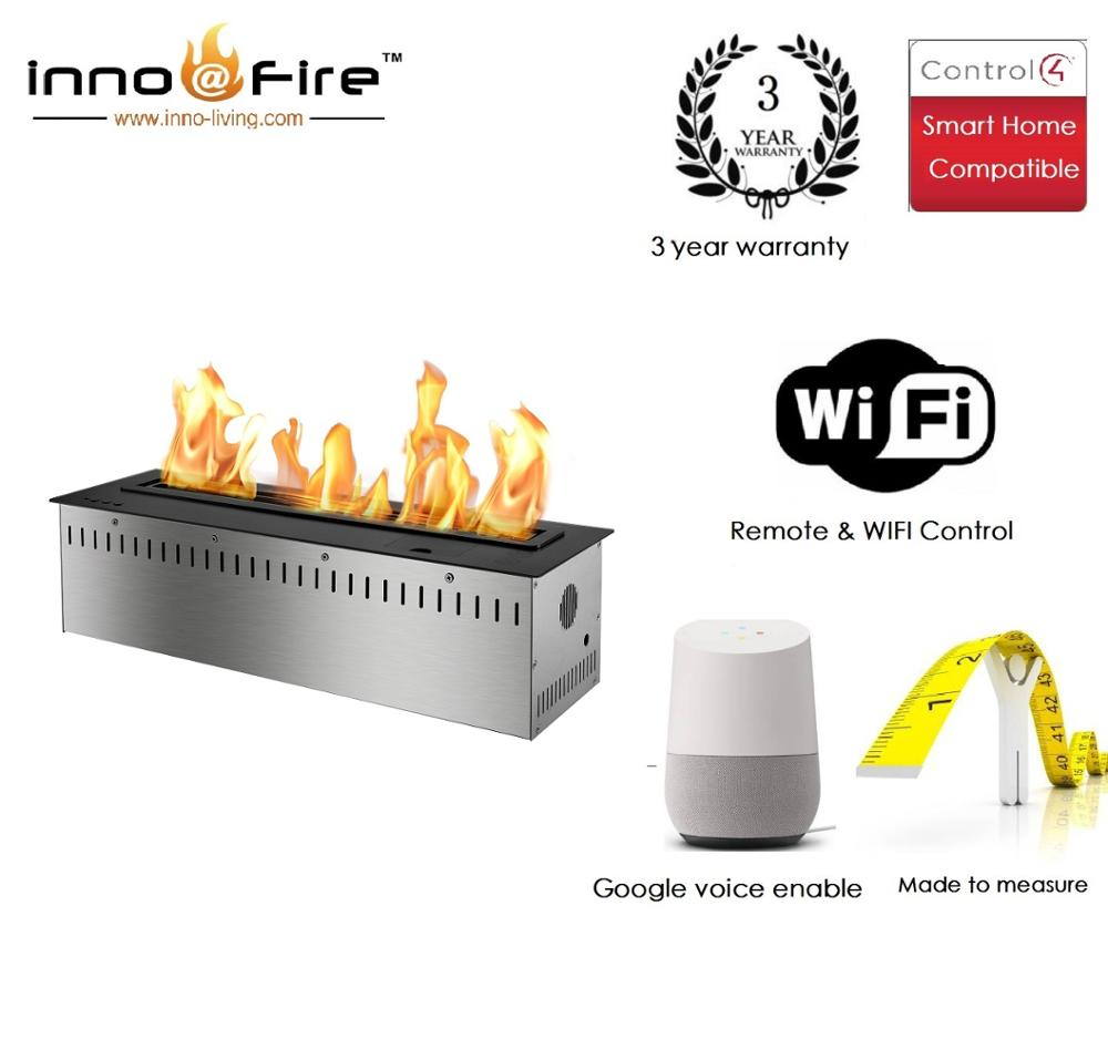 Inno Livinfg Fire 48 Inch   Electrical Fireplace Indoor With Bio Ethanol Fuel