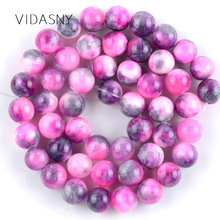 Natural Gem Stone Rose Red Persian Jades Round Beads for Jewelry Marking 6 8 10mm Charm Spacer Beads Diy Bracelet Necklace 15'' natural fuchsia persian jades stone round loose beads for jewelry making 6 10mm spacer beads fit diy bracelet necklace 15