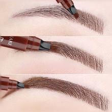 Pencil Eyebrow-Pen Cosmetic Dark-Brown Natural 4-Fork Waterproof 5-Colors Long-Lasting