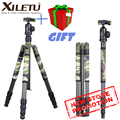 XILETU T284C+FB1 Camouflage Carbon Fiber Tripod Professional Hidden Outdoor Shooting for Digital DSLR Camera and Video Camcorder