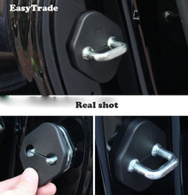 Car-Styling car door lock cover Auto Emblems Case For Toyota Highlander 2015-2018 rust-proof Stickers Accessories car auto door lock cover case protective cover sticker for toyota camry 2017 2018 2019 car styling