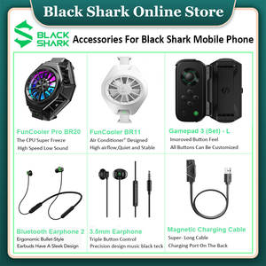 Earphone Charging-Cable Shark Funcooler Black -Lbluetooth Magnetic Pro BR20 Gamepad 2-3.5mm